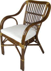 ratanová jídelní židle AKROPOLIS - tmavá