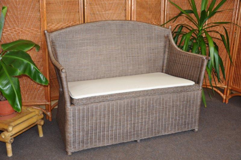 Ratanová lavice s úložným prostorem hnědá SLEVA 7 % | RYCHLÉ DODÁNÍ