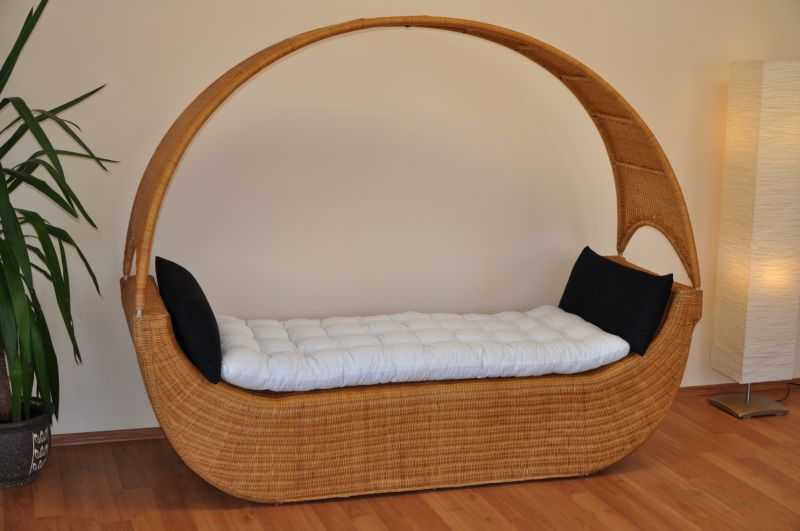 Ratanová pohovka/postel Kayak