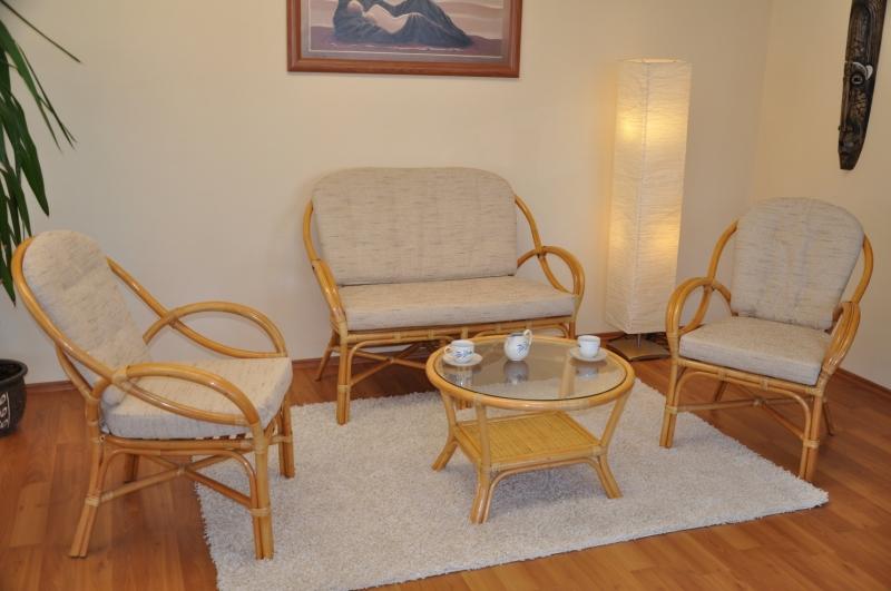 Ratanová sedací souprava Calipso medová SLEVA 30 % | RYCHLÉ DODÁNÍ