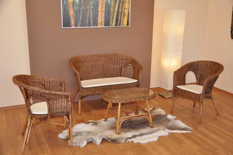 Ratanová sedací souprava Fabion brown wash velká SLEVA 35 % | RYCHLÉ DODÁNÍ