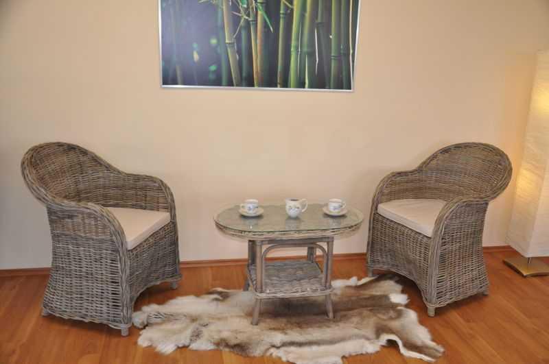 Ratanová sedací souprava Roma ratan kubu polstry béžové oválný stolek SLEVA 7 % | RYCHLÉ DODÁNÍ