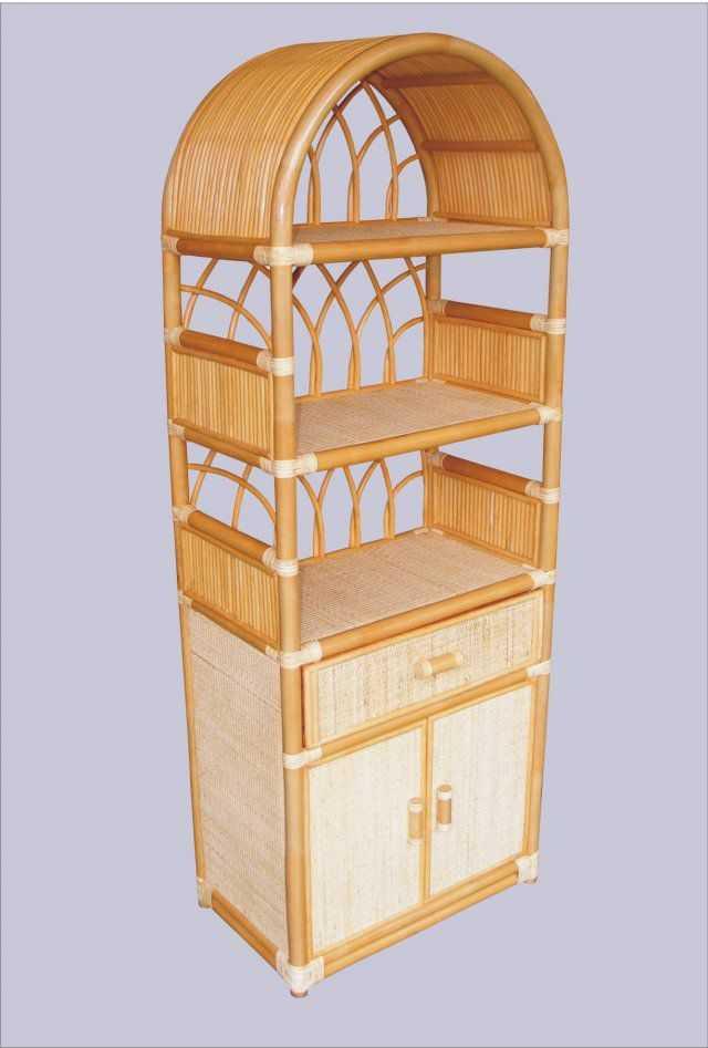 Ratanová skříňka zásuvka dvířka medová 6840 SLEVA 7 % | RYCHLÉ DODÁNÍ
