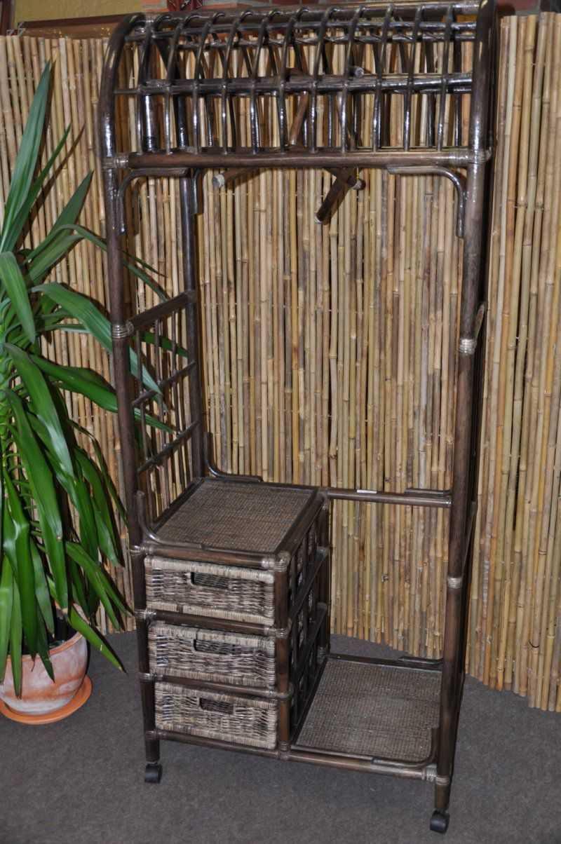 Ratanová stěna 3 zásuvky hnědá SLEVA 7 % | RYCHLÉ DODÁNÍ
