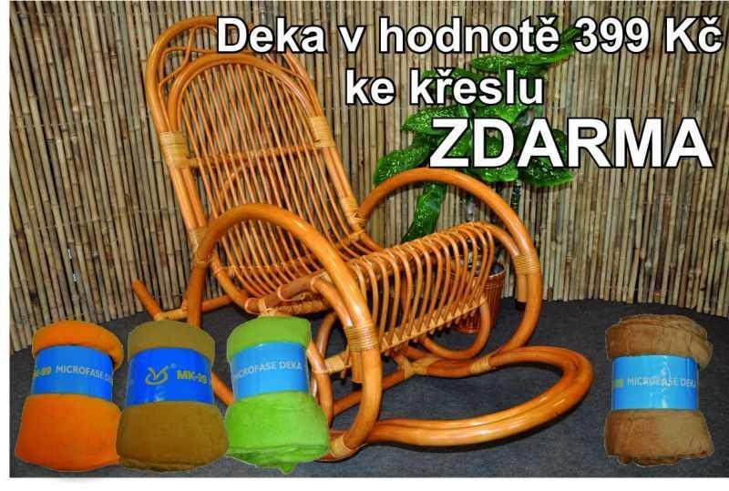 Ratanové houpací křeslo medové SLEVA 9 % | RYCHLÉ DODÁNÍ