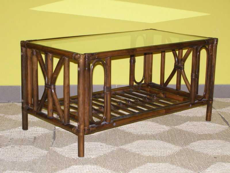 ratanový obývací stolek UNIVERSAL - tmavý