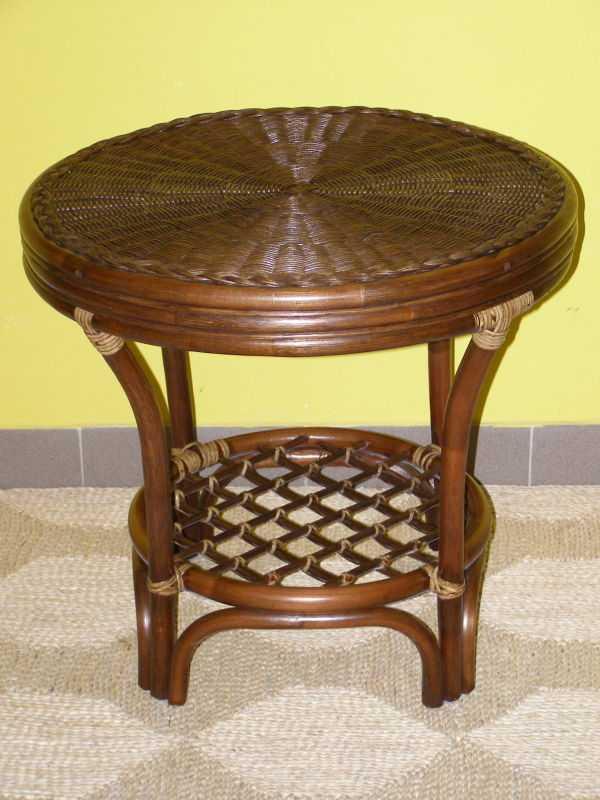 ratanový stolek JANEIRO - tmavý