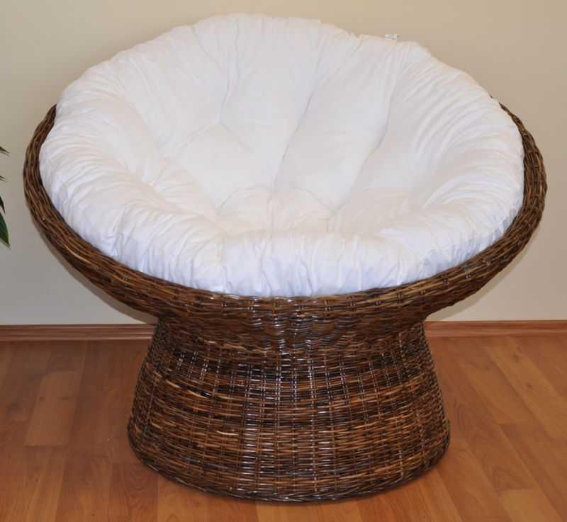 Ratanový papasan Croco polstr bílý SLEVA 7 % | RYCHLÉ DODÁNÍ