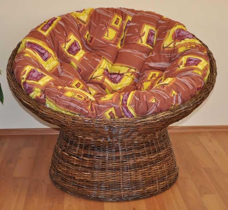 Ratanový papasan Croco polstr hnědý list SLEVA 7 % | RYCHLÉ DODÁNÍ