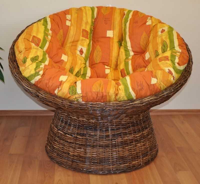 Ratanový papasan Croco polstr žlutý motiv SLEVA 7 % | RYCHLÉ DODÁNÍ