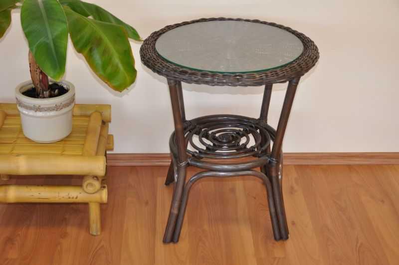 Ratanový stolek Fabion hnědý SLEVA 11 % | RYCHLÉ DODÁNÍ