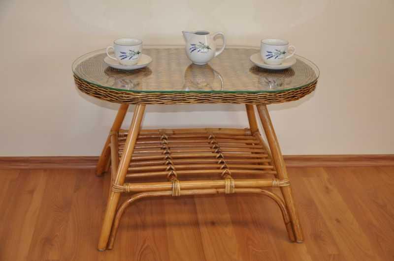 Ratanový stolek Fabion oválný brown wash SLEVA 7 % | RYCHLÉ DODÁNÍ