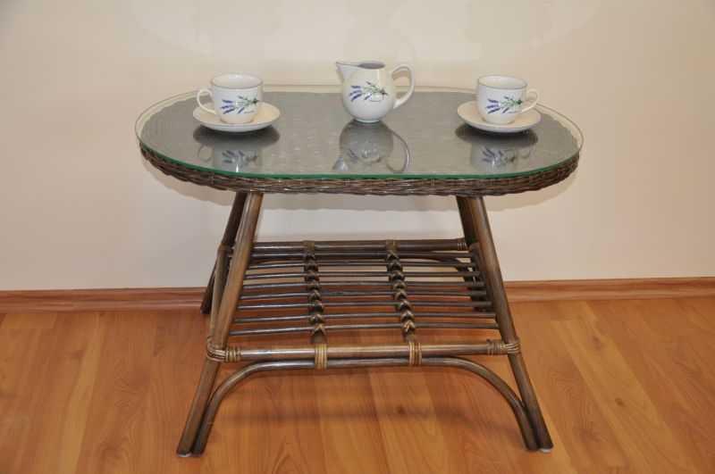 Ratanový stolek Fabion oválný hnědý SLEVA 7 % | RYCHLÉ DODÁNÍ
