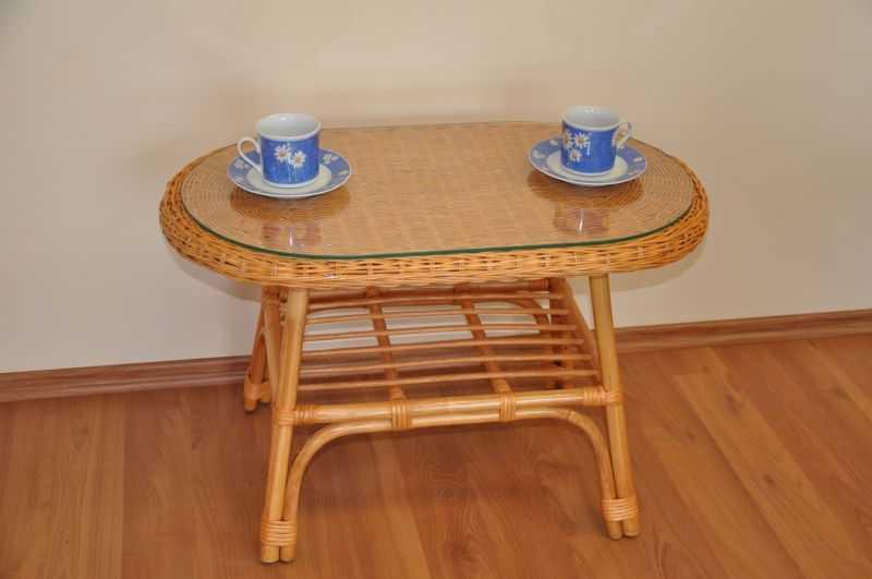 Ratanový stolek Fabion oválný medový SLEVA 7 % | RYCHLÉ DODÁNÍ