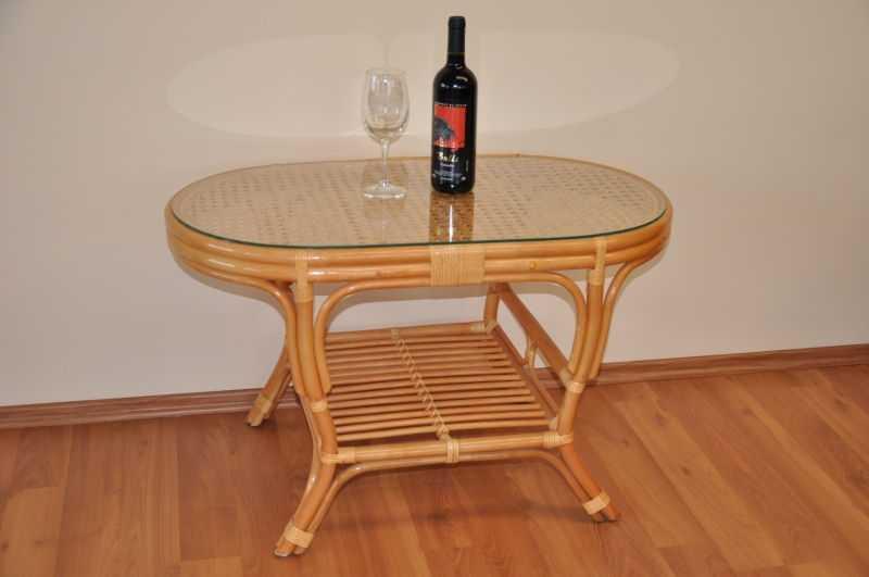 Ratanový stolek Kina oválný medový SLEVA 10 % | RYCHLÉ DODÁNÍ