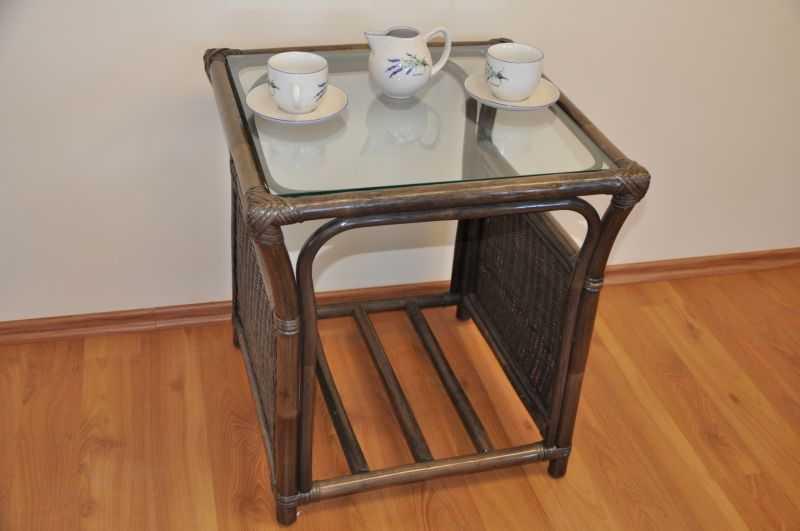 Ratanový stolek Oliver hnědý malý SLEVA 7 % | RYCHLÉ DODÁNÍ