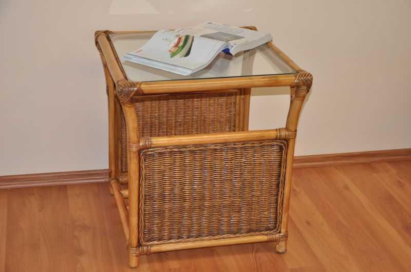 Ratanový stolek Oliver brown wash malý SLEVA 13 % | RYCHLÉ DODÁNÍ