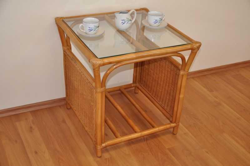 Ratanový stolek Oliver medový malý SLEVA 7 % | RYCHLÉ DODÁNÍ