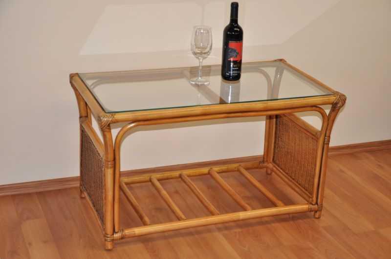 Ratanový stolek Oliver velký brown wash SLEVA 12 % | RYCHLÉ DODÁNÍ