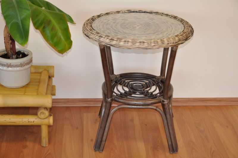 Ratanový stolek Fabion wicker mix | RYCHLÉ DODÁNÍ