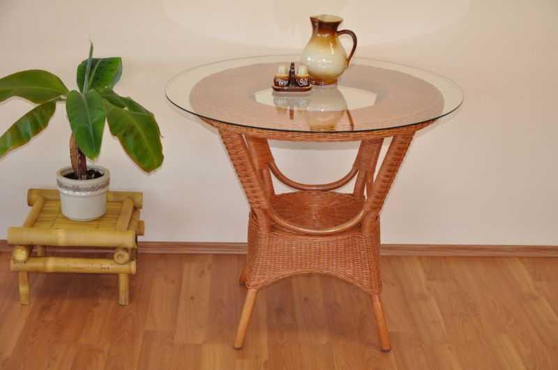 Ratanový stůl jídelní Wanuta cognac SLEVA 9 % | RYCHLÉ DODÁNÍ