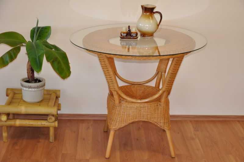 Ratanový stůl jídelní Wanuta med SLEVA 11 % | RYCHLÉ DODÁNÍ
