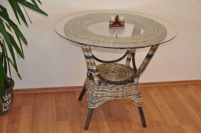 Ratanový stůl jídelní Wanuta wicker mix SLEVA 7 % | RYCHLÉ DODÁNÍ