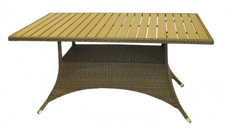 Dimenza zahradní RIMINI jídelní stůl 150x90 - hnědobéžový
