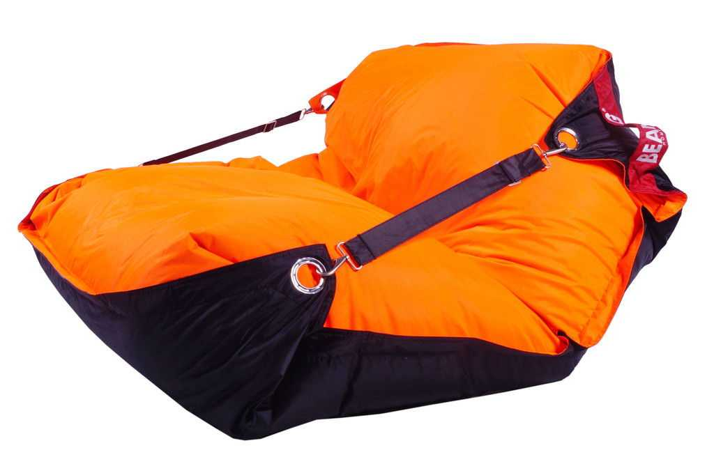 Sedací pytel 189x140 duo fluo orange - black