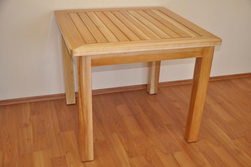 Stůl Feiffer mahagonové dřevo 90x90 SLEVA 7 % | RYCHLÉ DODÁNÍ