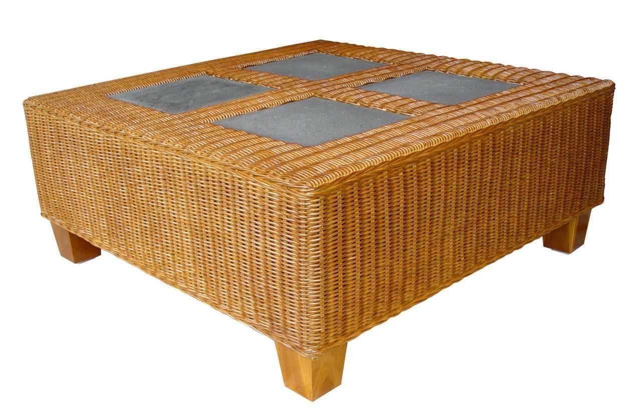 TOSCA ratanový stůl - lávové kameny | RYCHLÉ DODÁNÍ