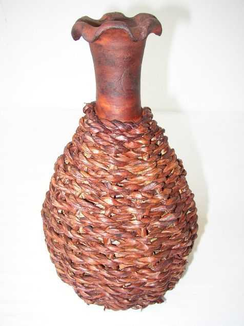 Váza pálená dekor mořské řasy | RYCHLÉ DODÁNÍ