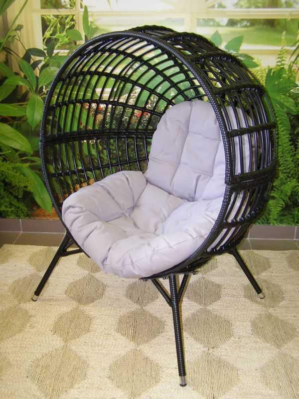 relaxační křeslo DONA černé - šedý sedák