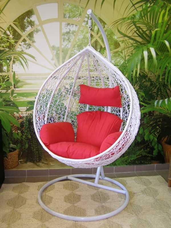 závěsné relaxační křeslo TARA- bílé