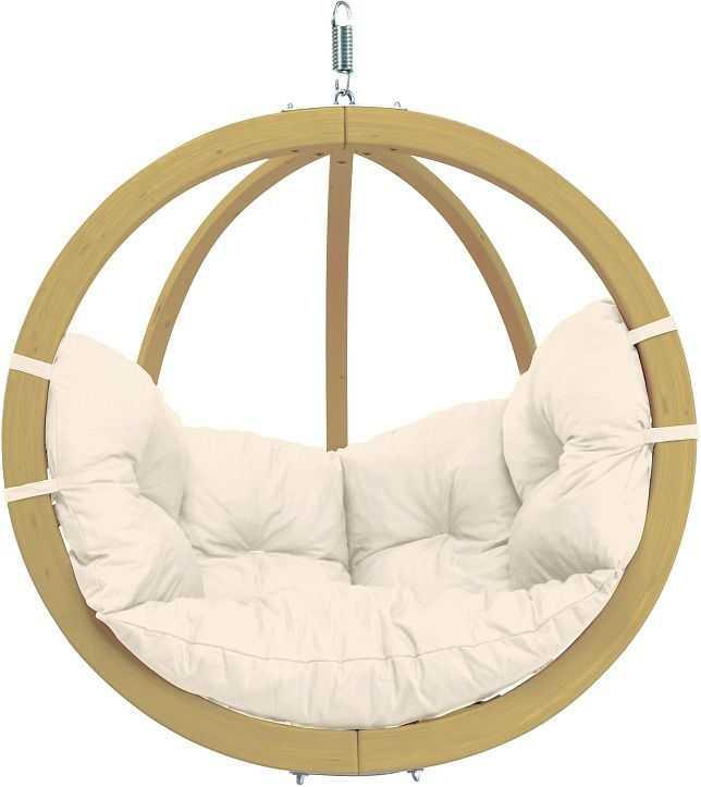 Závěsné houpací křeslo Globo chair natura