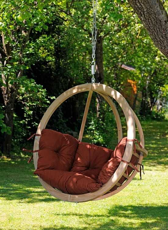 Závěsné houpací křeslo Globo chair terracotta