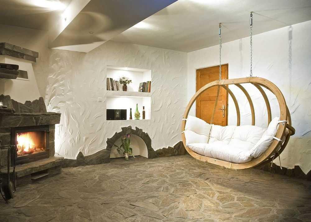 Závěsné houpací křeslo Globo royal chair natura