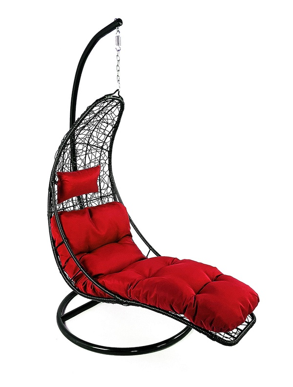 závěsné relaxační křeslo NORA - červený sedák