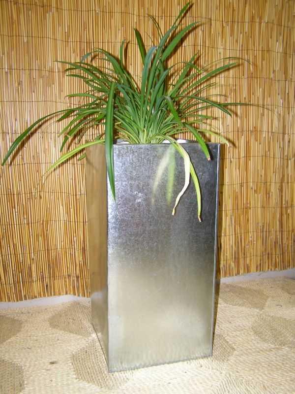 zinkový květináč - natur