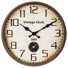 Atmosphera kovové hodiny Vintage 30cm hnědé