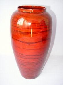 Bambusová váza antik červená