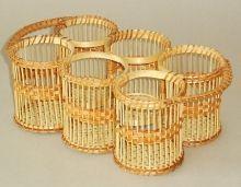 Bambusový podnos na nápoje