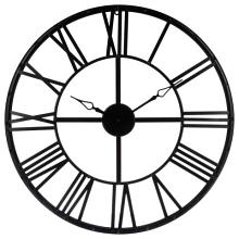 Černé kovové hodiny Vintage 70 cm