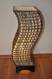 Lampa ratanová střední tvar S včetně LED žárovky (AKČNÍ CENA)