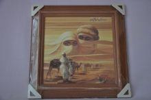 Obraz Sahara 45x45 tmavý rám O8