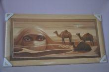Obraz Sahara 77x40 světlý rám O6