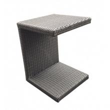 Dimenza zahradní ratanový odkládací stolek k lehátkům - světle hnědý