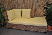 Odpočinková pohovka Lazy pravá banánový list polstr žlutý (AKČNÍ CENA)