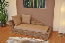 Odpočinková pohovka pravá  banánový list polstr hnědý (AKČNÍ CENA)
