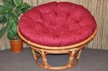 Ratanový papasan 100 cm Cognac červený
